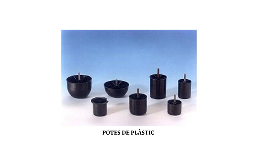 potes de plàstic